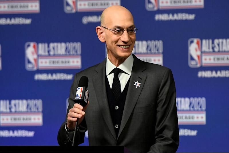 NBA owners approved commissioner Adam Silver's plan to resume the 2019-20 season with 22 teams. (Stacy Revere/Getty Images)