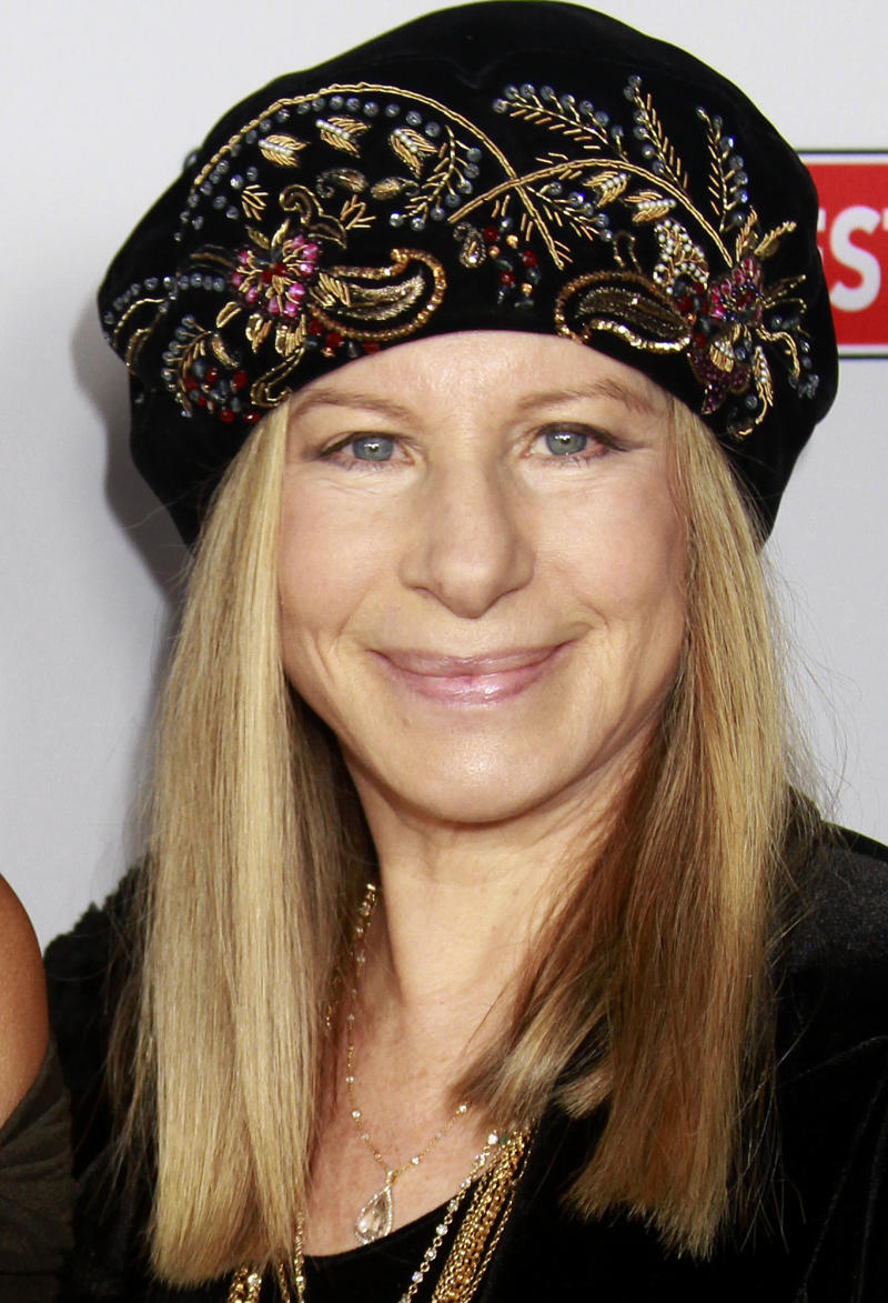 FILE - In this Nov. 18, 2011 file photo, actress Barbara Streisand arrives at the 10th Annual Celebration of Dreams, in Santa Barbara, Calif.  Brooklyn's new Barclays Center arena announced Wednesday, May 9, 2012, that Streisand will give a concert at the venue on Oct. 11.  (AP Photo/Michael A. Mariant, file)