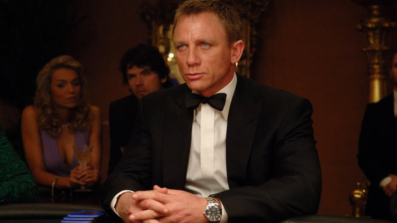 Daniel Craig sports an Omega watch in 'Casino Royale'. (Credit: Sony)