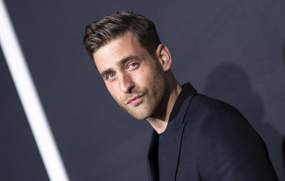 """Oliver Jackson-Cohen arrives for """"The Invisible Man"""" premiere in Hollywood on February 24, 2020. (Photo by Valerie Macon/AFP via Getty Images)"""