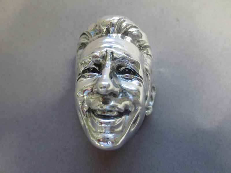 The sterling silver sculpture of Mario Andretti for his Baby Borg trophy commemoration the 50th anniversary of his Indianapolis 500 win.
