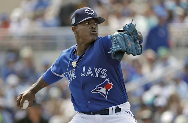 Marcus Stroman will lead the Jays rotation, but he'll need to be better than last year. (AP)