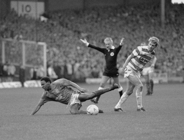 Mark Walters in action for Rangers against Celtic