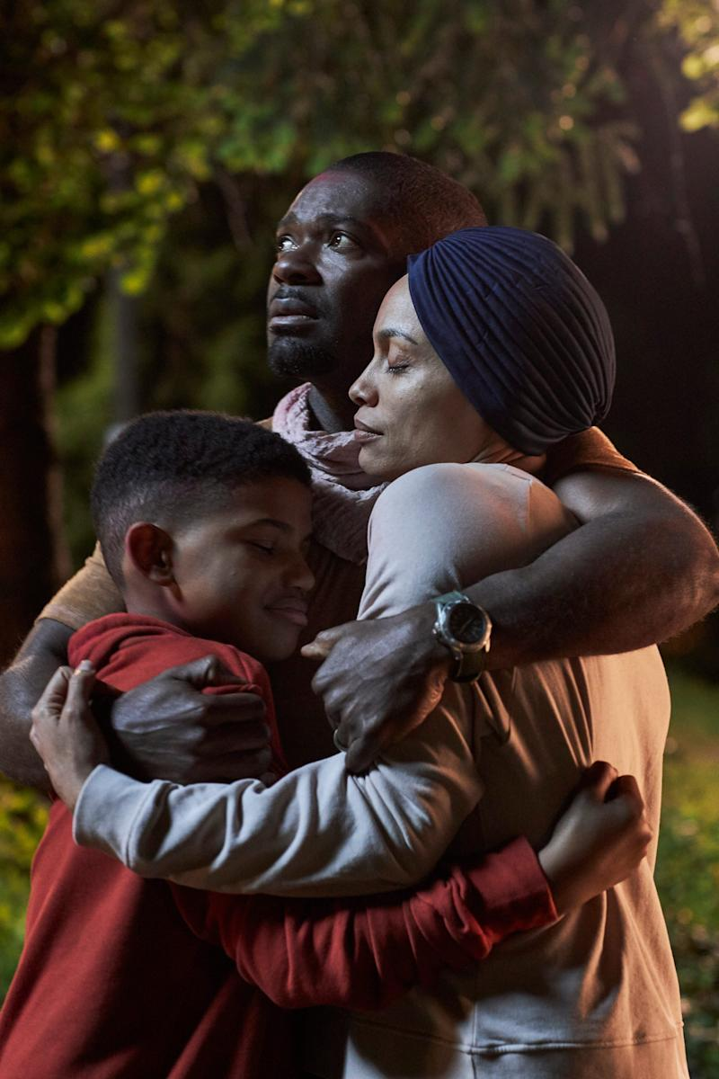 "David Oyelowo (top), Rosario Dawson and Lonnie Chavis are the family at the center of Oyelowo's directorial debut ""The Water Man."""