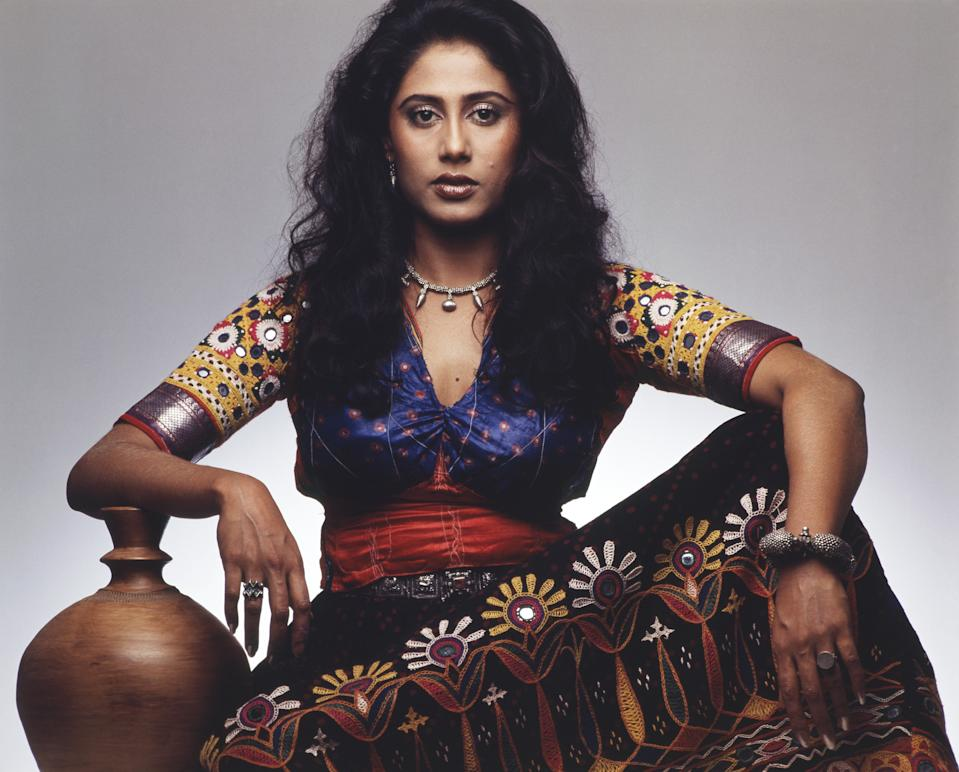 1980, Portrait Of Indian film actress Smita Patil. (Photo by Dinodia Photos/Getty Images)