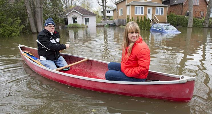 Hundreds were displaced this week after floods ravaged cities across the country. Photo from The Canadian Press