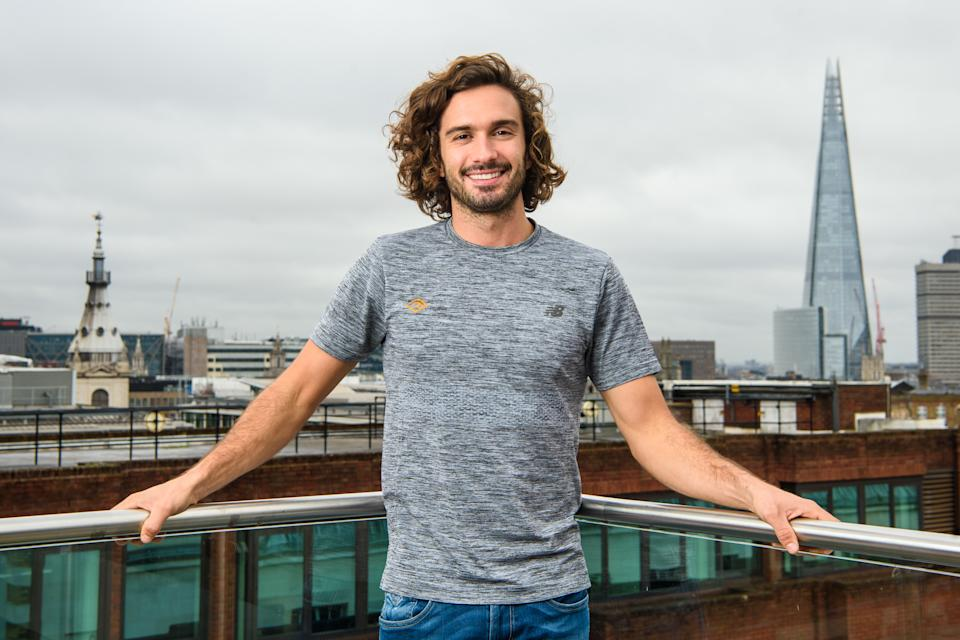 Joe Wicks pictured at the Grange Hotel, London, during a press day for Moe-Joe, a fitness audio show by Audible to help train non-runners get ready for the Virgin Money 2018 Marathon. Photo credit should read: Matt Crossick/ EMPICS Entertainment.