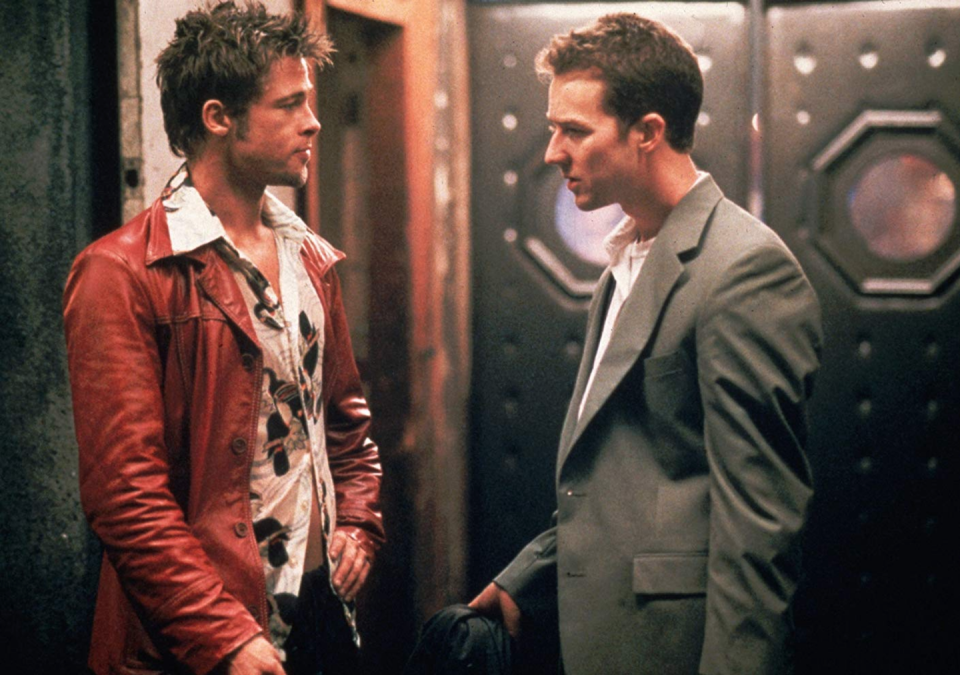 "<p>We'd tell you about <em>Fight Club, </em>but we'd be violating the first rule of Fight Club. So instead, we'll just say that the 1999 film starred Brad Pitt and Edward Norton, earned $100.9 million in theaters worldwide, and if you haven't seen it, go stream it on Amazon Prime right now. <a href=""https://www.amazon.com/Fight-Club-Brad-Pitt/dp/B003MAQM6Q?tag=syn-yahoo-20&ascsubtag=%5Bartid%7C10063.g.35813605%5Bsrc%7Cyahoo-us"" rel=""nofollow noopener"" target=""_blank"" data-ylk=""slk:Seriously"" class=""link rapid-noclick-resp"">Seriously</a>, we'll wait. </p>"