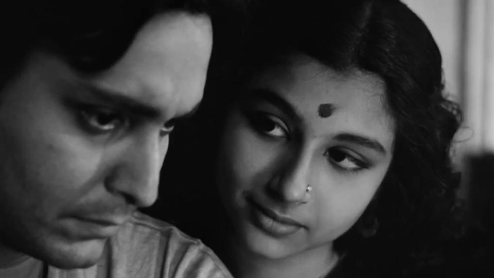 "The actress made her debut with what turned out to be a cinematic landmark, Apu'r Sangsar. Translated as ""The World of Apu"", the Bengali work by Satyajit Ray narrates a heartbreaking story of 'Apu' played by Soumitra Chatterjee and is part of Ray's iconic trilogy on 'Apu'. Sharmila plays a young wife, the driver of a tender romance shared by the couple. Her unadulterated charm effortlessly lights up the screen even in its black-and-white gloom."