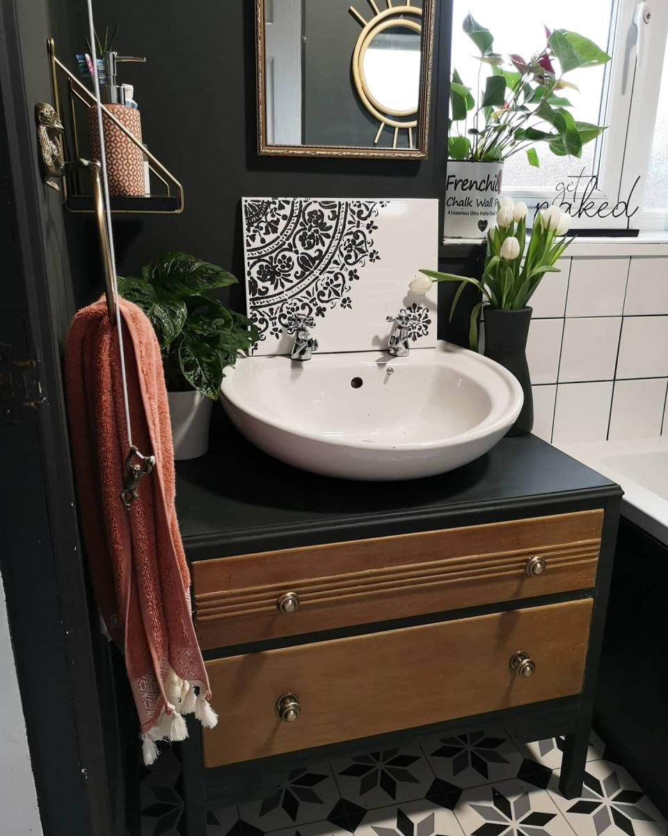 The upcycled sink unit. (Latestdeals.co.uk