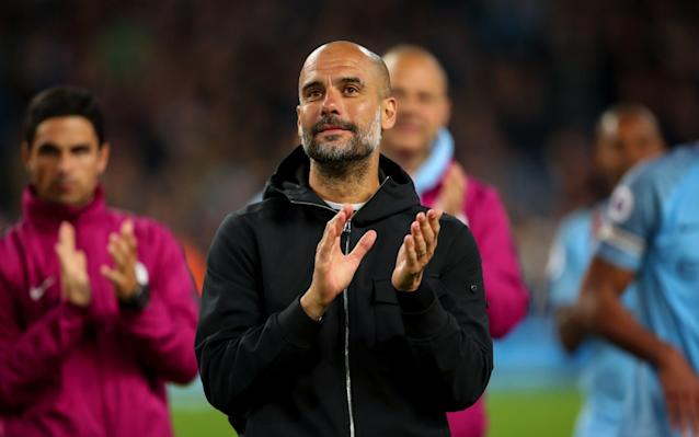 """Pep Guardiola has signed a new two-year extension as Manchester City manager and is already closing in on his first summer signing as the Premier League champions bid to build on their domestic dominance. Guardiola was out of contract at the end of next season but the new deal will commit the former Barcelona and Bayern Munich coach to the Etihad Stadium until June 2021. It comes as the agent of Jorginho revealed the Brazil-born Italy midfielder will join City this summer if the club can agree terms with Napoli for the £50 million player. Joao Santos said City would have no trouble agreeing personal terms with Jorginho as they seek to bolster their midfield. """"At this moment, Jorginho is still under contract but if Napoli finds an agreement with City, the player will go to Manchester,"""" Santos said. """"Finding an agreement with the English club will not be a problem considering the importance of the team. But, I repeat, that will depend on the decisions of Napoli as the player is tied for another two years."""" Guardiola also wants a versatile forward, with City still interested in Riyad Mahrez after failing to sign the Leicester City playmaker in January. Paris St Germain's Kylian Mbappe and Belgium forward, Eden Hazard, who Chelsea are adamant will not be sold to City, are more ambitious targets. Thomas Lemar, of Monaco, and Leon Bailey at Bayer Leverkusen have also been monitored. The genius of Pep Guardiola: Eight things he has done to make Man City so frighteningly good Guardiola's decision to commit to City for a further two years is a significant coup for the club and raises the prospect of the Catalan staying in Manchester for five years, longer than any of his previous clubs. Guardiola spent four years at Barcelona before taking a sabbatical and just three years at Bayern. Guardiola's original deal was worth around £15.2 million a year but it was unclear on Thursday night if he had secured a substantial increase in salary and bonuses on the back of an extraordinar"""