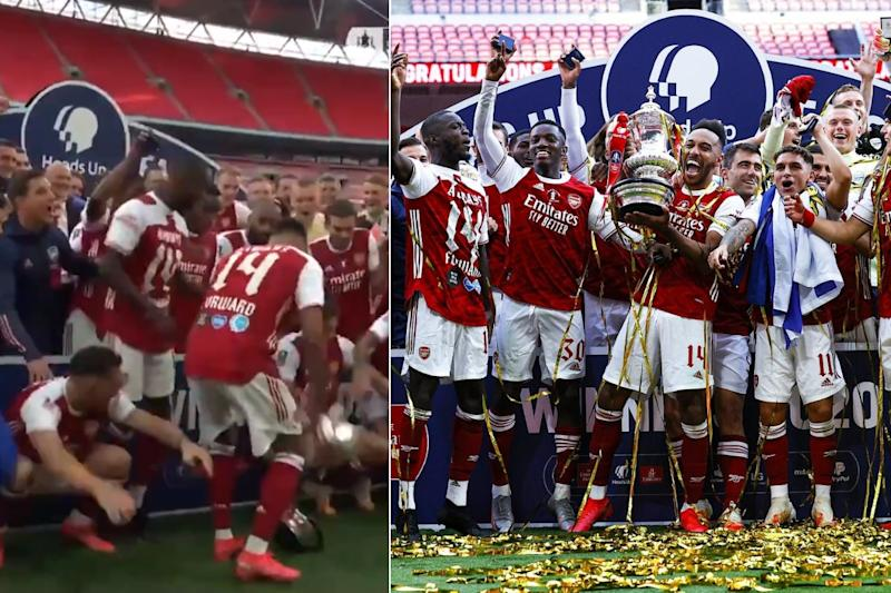 Arsenal Beat Chelsea 2-1 as Lift 14th FA Cup Trophy and Then Pierre-Emerick Aubameyang Drops It
