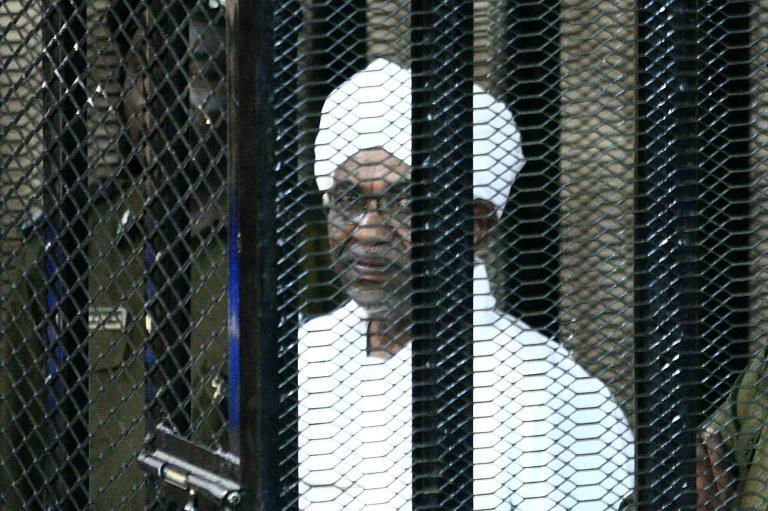 A file photo from August 31, 2019 shows Bashir in court to face charges of illegal acquisition and use of foreign funds