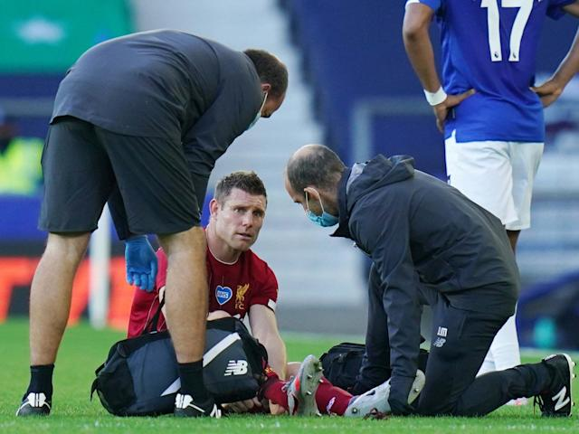 James Milner is set to miss Liverpool's return to Anfield on Wednesday: Reuters