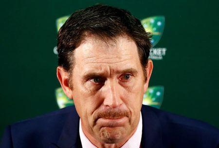 Cricket Australia Chief Executive Officer (CEO) James Sutherland reacts as he talks during a media conference at the WACA Ground in Perth, Australia, November 4, 2016. REUTERS/David Gray