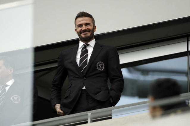 David Beckham and Inter Miami made their MLS debut on Sunday, and a lot went right despite the loss at LAFC. (AP Photo/Marcio Jose Sanchez)