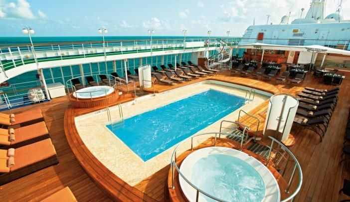 <p>The Silver Cloud's pool deck should be a popular spot for Team USA. (silversea.com) </p>