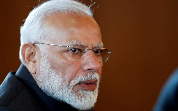 Mr Modi conceded the election in a Twitter post, though official results have yet been announced - Reuters