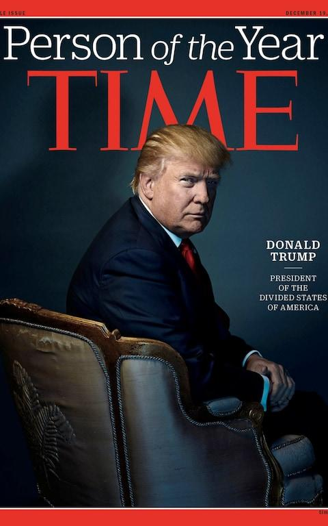 Donald Trump was named TIME magazine's Person of the Year for 2016