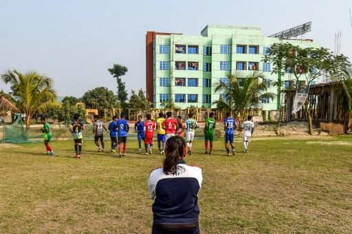 Mirona, of Dhaka City FC, is the first woman to coach a Bangladeshi football club