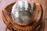 """<p>If Dad loves throwing the ball around with the kids, grab one from the toy basket and ink a handprint on top. Done!</p><p><em><a href=""""http://www.sunnydayfamily.com/2015/06/handprint-baseball-diy-fathers-day-gift.html"""" rel=""""nofollow noopener"""" target=""""_blank"""" data-ylk=""""slk:Get the tutorial from Sunny Day Family »"""" class=""""link rapid-noclick-resp"""">Get the tutorial from Sunny Day Family »</a></em> </p>"""