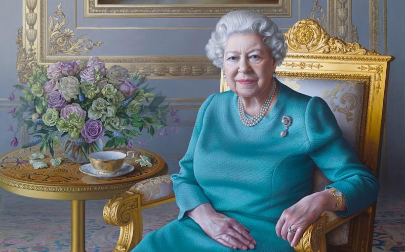 Portrait of HM The Queen for the FCO - Todd-White Art Photography