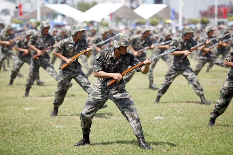 The Chinese army is concerned at the lack of young recruits in good physical condition: AFP/Getty Images
