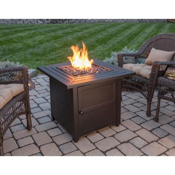 """<p><strong>Endless Summer</strong></p><p>homedepot.com</p><p><strong>$226.59</strong></p><p><a href=""""https://go.redirectingat.com?id=74968X1596630&url=https%3A%2F%2Fwww.homedepot.com%2Fp%2FEndless-Summer-30-in-W-Black-Weather-Resistant-Steel-LP-Gas-Outdoor-Fire-Pit-with-Electronic-Ignition-and-Black-Fire-Glass-GAD1423M%2F301448466&sref=https%3A%2F%2Fwww.housebeautiful.com%2Fshopping%2Fhome-accessories%2Fg32129002%2Fbest-fire-pit%2F"""" rel=""""nofollow noopener"""" target=""""_blank"""" data-ylk=""""slk:BUY NOW"""" class=""""link rapid-noclick-resp"""">BUY NOW</a></p><p>For a solid propane option, this fire pit (which, by the way, has more than 1,000 rave reviews) is a great pick. The propane tank gets hidden in the base and the unit comes with black fire glass and a protective cover. </p>"""