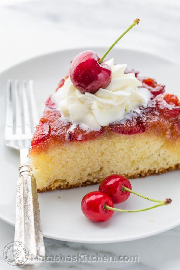 """<p>Go hard with the whole """"cherry on top"""" thing.</p><p>Get the recipe from <a href=""""http://natashaskitchen.com/2015/06/20/cherry-upside-down-cake-recipe/"""" rel=""""nofollow noopener"""" target=""""_blank"""" data-ylk=""""slk:Natasha's Kitchen"""" class=""""link rapid-noclick-resp"""">Natasha's Kitchen</a>.</p>"""