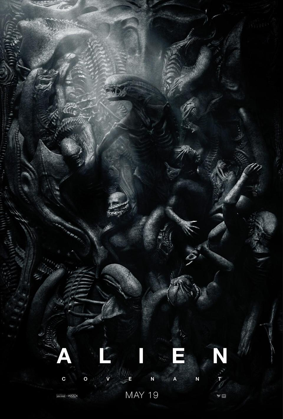 <p>'Alien: Covenant's HR Giger inspired one-sheet (20th Century Fox) </p>