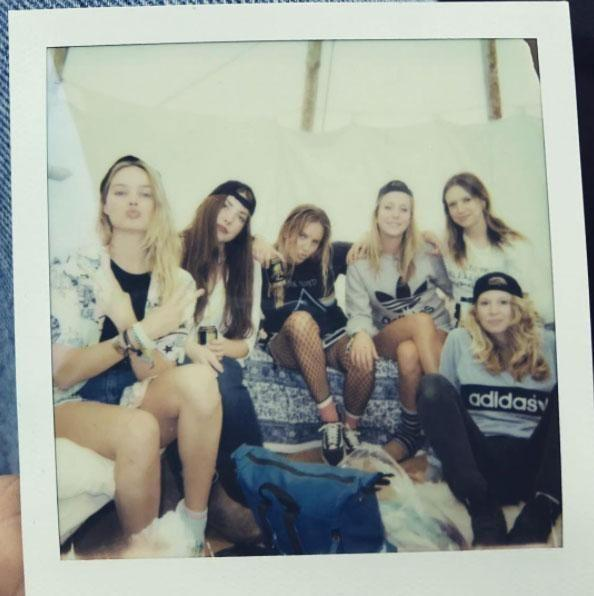 The star enjoyed the festival with pals. Source: Instagram