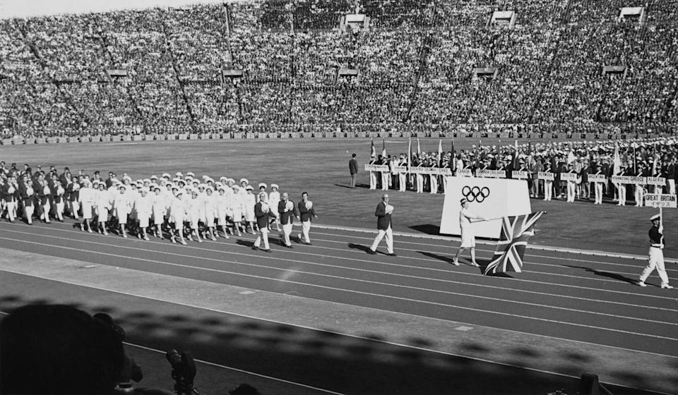 Opening ceremony at the 1964 Tokyo Olympics (Getty)