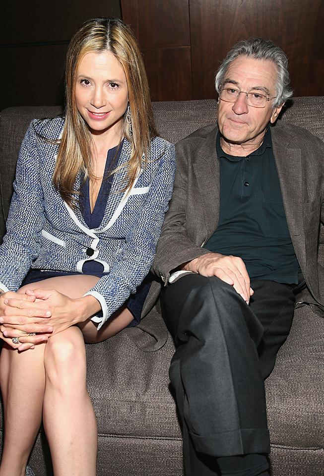 Mira Sorvino and Robert De Niro attend the TFF Awards Night during the 2013 Tribeca Film Festival on April 25, 2013 in New York City.