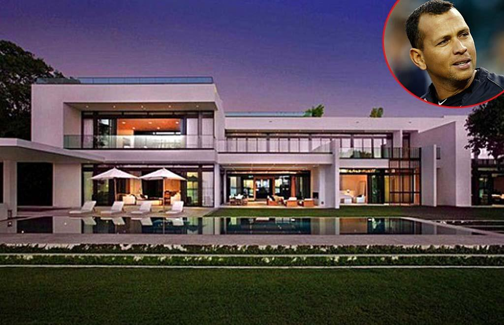 """<strong>Alex Rodriguez</strong><br /><strong>Miami, Florida</strong><br /><strong>Asking Price:</strong> <strong>$38 million</strong><br /> <p>After buying a waterfront lot in 2010 and spending a reported $24 million to have the 9-bedroom home, 13-bath mansion custom built, A-Rod first tried selling the stunning contemporary pad in August 2012, just a year after taking possession of it. In January, however, the New York Yankees third baseman took his 20,000-square-foot home off the market, according to real estate website <a href=""""http://www.zillow.com/blog/"""" target=""""_blank"""">Zillow</a>. He's since <a href=""""http://www.nydailynews.com/life-style/real-estate/a-rod-rents-miami-mansion-article-1.1251728"""" target=""""_blank"""">reportedly rented it out </a>for a mind-boggling $125,000 a month. The wealthy renter gets city skyline views and a ridiculous amount of outdoor space, including expansive covered terraces, a """"vanishing edge"""" heated pool, full outdoor kitchen, and rooftop deck, all on 275 feet of water frontage with two docks. And there are no privacy issues to worry about. <a href=""""http://omg.yahoo.com/blogs/celeb-news/alex-rodriguez-takes-38m-miami-mansion-off-market-021103069.html"""" target=""""_blank"""">The home is gated, walled, and has 16 security cameras.</a></p>"""