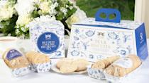 """<p><a class=""""link rapid-noclick-resp"""" href=""""https://duchesscollection.co.uk/collections/brew-for-the-crew/products/tea-biscuit-gift-set"""" rel=""""nofollow noopener"""" target=""""_blank"""" data-ylk=""""slk:SHOP NOW"""">SHOP NOW</a></p><p>This quintessentially English collection of tea and shortbread from Kent and Somerset has been selected by Sarah, Duchess of York; all profits will go to charities supporting hospitals and frontline workers contending with the coronavirus crisis.</p><p>Tea and biscuit gift set, £35, Duchess Collection</p>"""