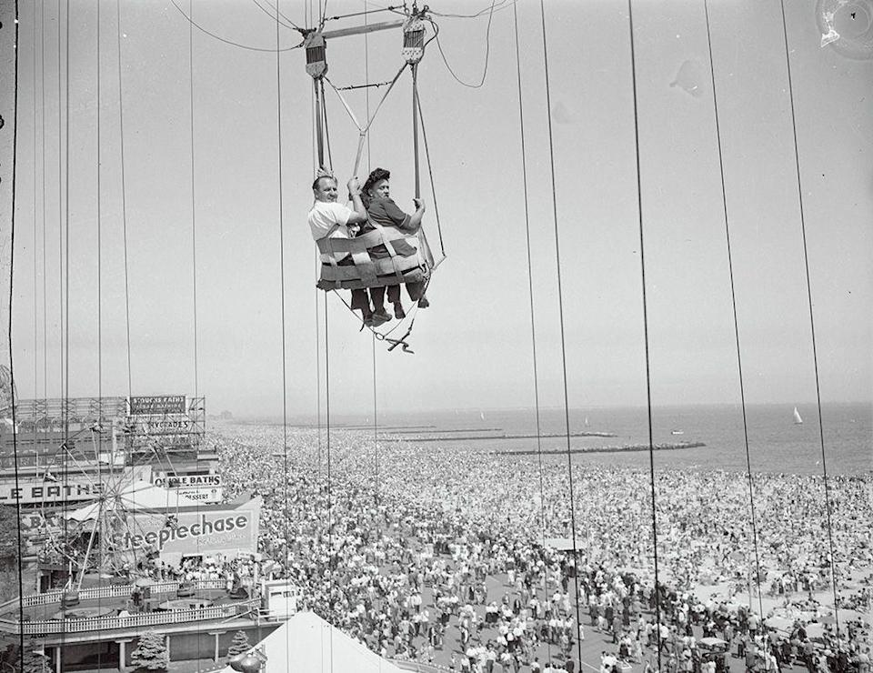 <p>If you could stomach the heights and the speed, the attraction gave riders a great view of the beach and park. Though the parachutes are no longer in operation, the Parachute Jump tower is a designated landmark. </p>