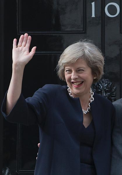 """The Financial Times as early as 2014 wrote an admiring profile of Britain's new Prime Minister Theresa May, entitled """"Britain's Angela Merkel?"""" (AFP Photo/Justin Tallis)"""