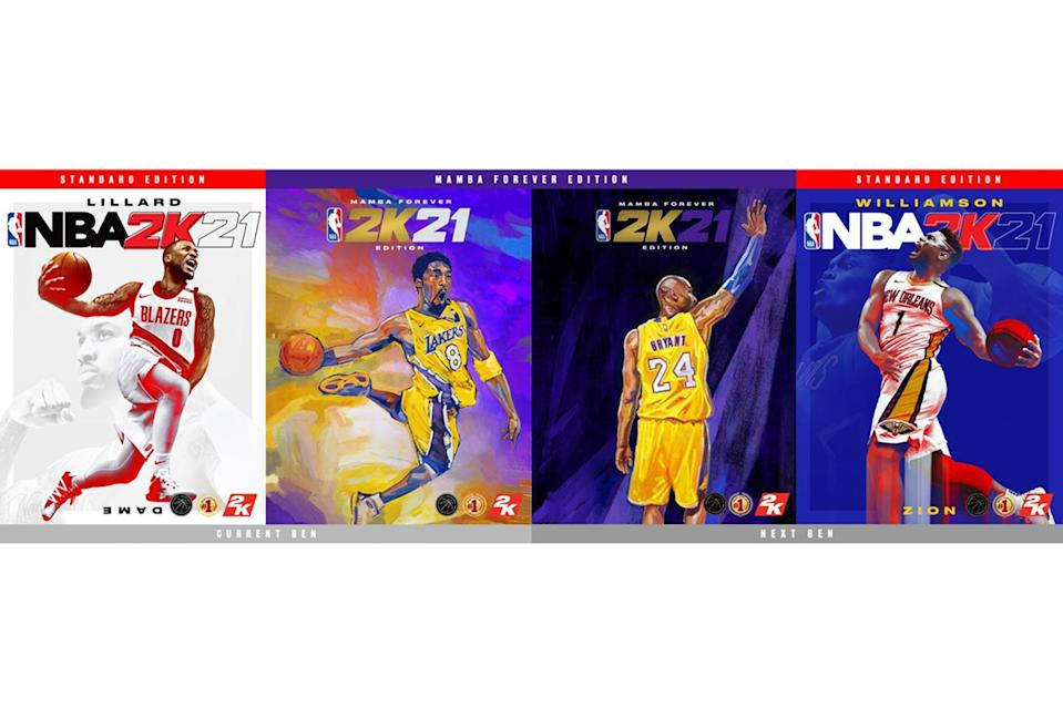 """<p>Slam dunk your way into the heart of the Kobe fan in your life with the previously sold out Mamba Forever edition of <em><a href=""""https://www.amazon.com/NBA-2K21-Mamba-Forever-PlayStation-4/dp/B08BXHHBB9?&linkCode=ll1&tag=ewnba2k21eweditorsrdetken0121-20&linkId=a552c267c7894294b05eab78d0bf3a35&language=en_US&ref_=as_li_ss_tl"""" rel=""""nofollow noopener"""" target=""""_blank"""" data-ylk=""""slk:NBA 2K21"""" class=""""link rapid-noclick-resp"""">NBA 2K21</a></em>.</p> <p><strong>Regular edition $69.99/Mamba Forever edition $99.99, <a href=""""https://www.amazon.com/NBA-2K21-Mamba-Forever-PlayStation-4/dp/B08BXHHBB9?&linkCode=ll1&tag=ewnba2k21eweditorsrdetken0121-20&linkId=a552c267c7894294b05eab78d0bf3a35&language=en_US&ref_=as_li_ss_tl"""" rel=""""nofollow noopener"""" target=""""_blank"""" data-ylk=""""slk:amazon.com"""" class=""""link rapid-noclick-resp"""">amazon.com</a></strong></p>"""