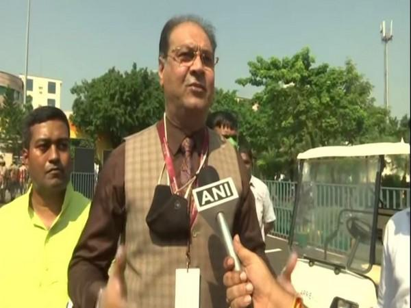 UP Minister Mohsin Raza speaking to ANI in Lucknow on Tuesday. [Photo/ANI]