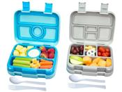<p>The microwave- and dishwasher-friendly <span>Bizz Travel Bento Box </span> ($34) even comes with a set of utensils. Did we mention they're BPA-free? </p>