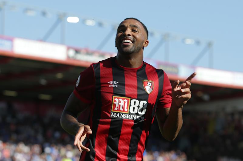 BOURNEMOUTH, ENGLAND - SEPTEMBER 15: Callum Wilson of Bournemouth celebrates after he scores a goal to make it 3-1 during the Premier League match between AFC Bournemouth and Everton FC at Vitality Stadium on September 15, 2019 in Bournemouth, United Kingdom. (Photo by Robin Jones - AFC Bournemouth/AFC Bournemouth via Getty Images)