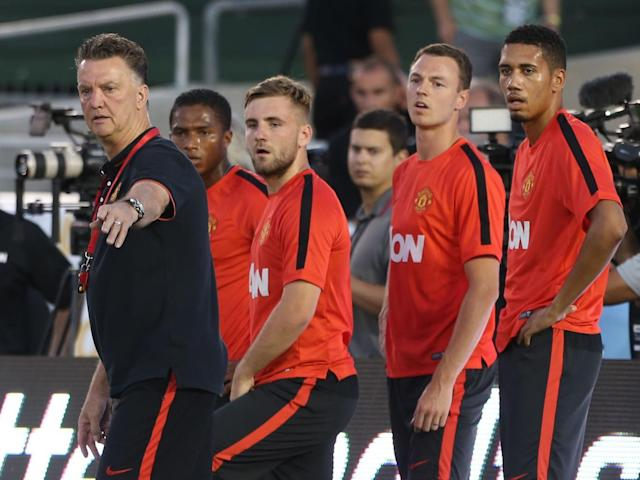Evans said he learned as much from Van Gaal in one season as he had done as a footballer (Getty)