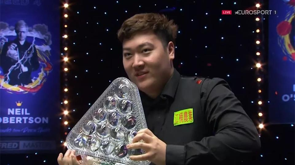 Asian sensation Yan became the youngest player to lift the Paul Hunter Trophy since Ronnie O'Sullivan in 1995