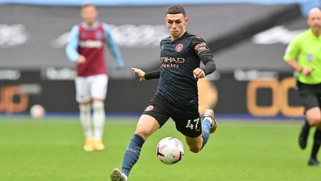 Manchester City's Phil Foden in action against West Ham. AP
