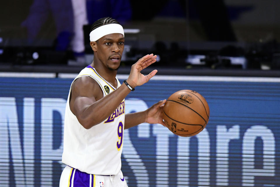Los Angeles Lakers guard Rajon Rondo
