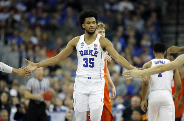 "Duke's <a class=""link rapid-noclick-resp"" href=""/ncaab/players/142114/"" data-ylk=""slk:Marvin Bagley III"">Marvin Bagley III</a> is expected to be a lottery pick. (AP)"