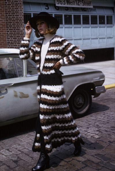 <p>1974: When something your great aunt knitted meets street chic attitude. </p>