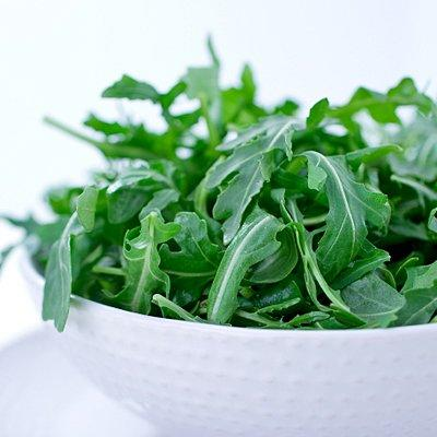 """<p><strong>Calories:</strong> 4 per cup</p> <p>This delicate, peppery green is amazingly low in everything you don't want, especially calories, fat, saturated fat, and cholesterol. It is, however, loaded with crunch and packed with <a href=""""https://www.health.com/health/gallery/0,,20553010,00.html"""">fiber</a>, vitamins A, C and K, and other nutrients, including potassium.</p> <p>Perfect in salads, soups, or anywhere you would use leafy <a href=""""https://www.health.com/health/gallery/0,,20487719,00.html"""">greens</a>, arugula may even boost your romantic life! Evidence suggests that the minerals and antioxidants packed into dark, leafy greens are essential for our <a href=""""https://www.health.com/health/gallery/0,,20307213,00.html"""">sexual health</a> because they help block absorption of toxins that dampen the libido.</p> <p><b>Try this recipe</b>: <a href=""""https://www.health.com/health/recipe/0,,50400000121810,00.html""""><b>Arugula Soup</b></a></p>"""