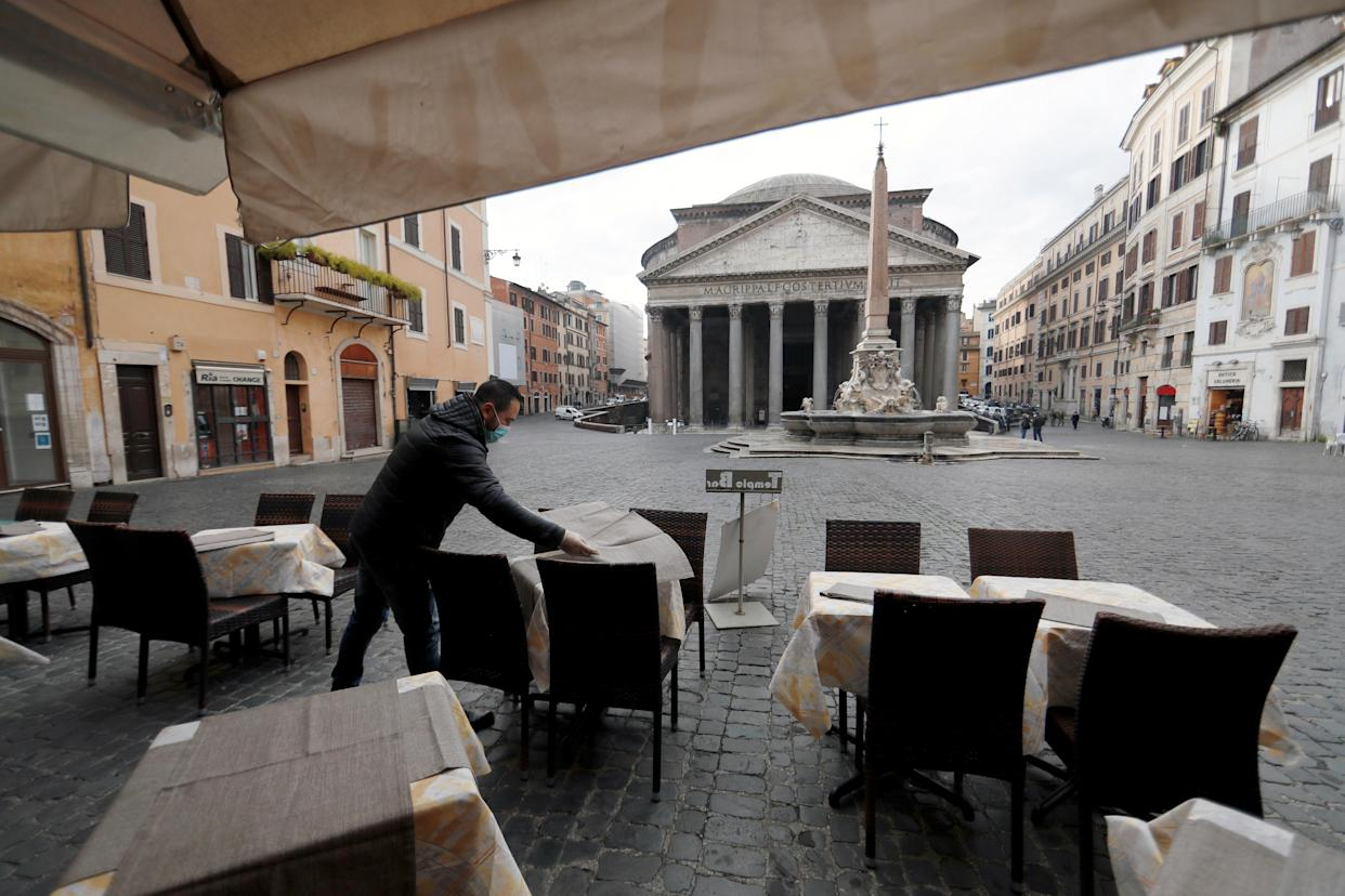 Italy has recently announced a plan to relax restrictions but still has a curfew in place. (Reuters)
