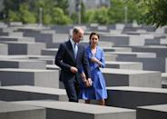 <p><b><b><b>The Duke and Duchess made a second visit to a Holocaust memorial. This time, they stopped off at one in the heart of Berlin.<br><i>[Photo: PA]</i> </b></b></b></p>